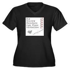 Equiptment Women's Plus Size V-Neck Dark T-Shirt