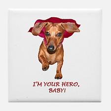 Your Hero Tile Coaster