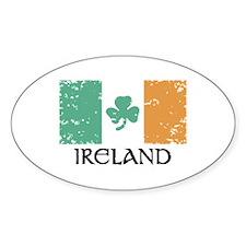 Ireland Flag Oval Decal