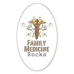 Family Medicine Rocks Oval Sticker (10 pk)
