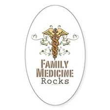 Family Medicine Rocks Oval Decal