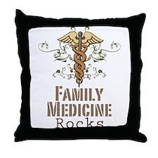 Family Medicine Rocks Throw Pillow