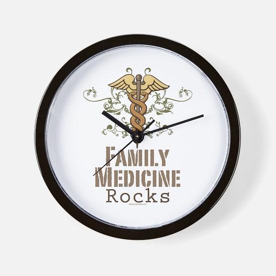 Family Medicine Rocks Wall Clock