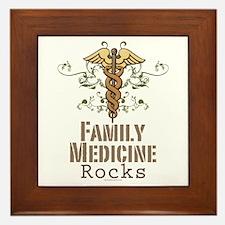 Family Medicine Rocks Framed Tile