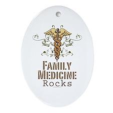 Family Medicine Rocks Oval Ornament