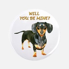 "Be Mine 3.5"" Button"