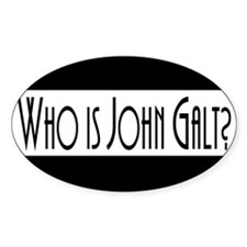 Who Is John Galt? Oval Decal