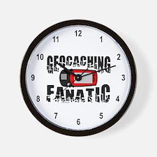 Geocaching Fanatic Wall Clock