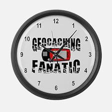 Geocaching Fanatic Large Wall Clock