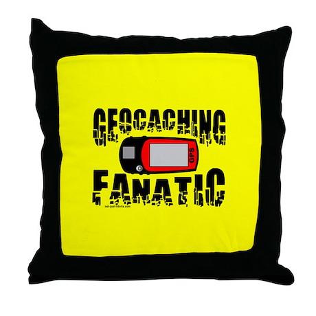 Geocaching Fanatic Throw Pillow