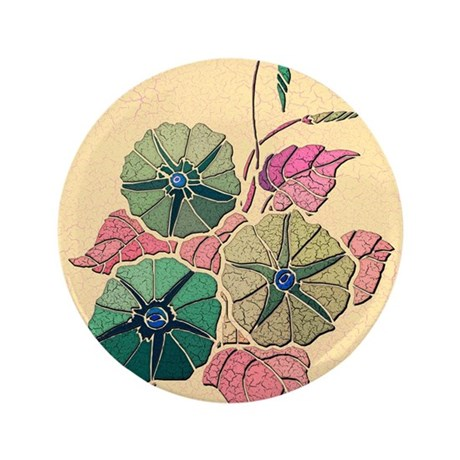 """Morning Glory 3.5"""" Button (100 pack)"""