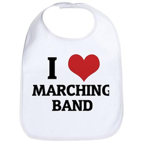I Love Marching Band Bib