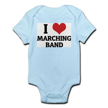 I Love Marching Band Infant Creeper