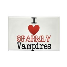 I love sparkly vampires Rectangle Magnet