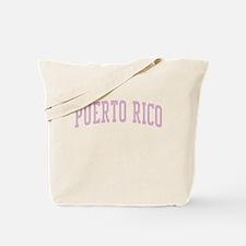 Puerto Rico Pink Tote Bag