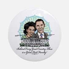 Obama First Family Ornament (Round)