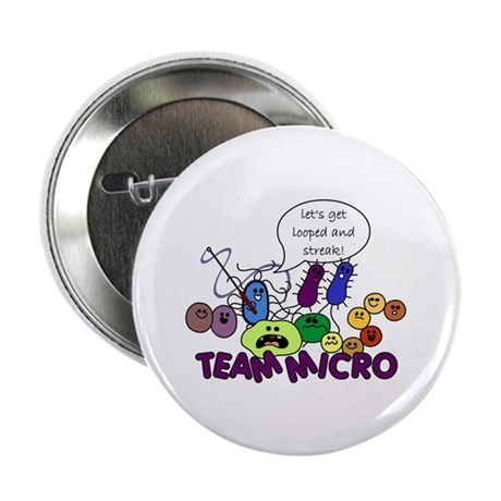 """I Love Bacteria 2.25"""" Button (10 pack)"""