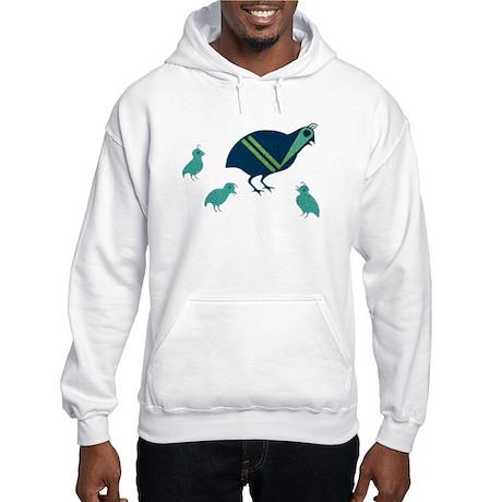 Quail Family Hooded Sweatshirt