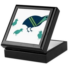 Quail Family Keepsake Box