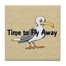 Time to Fly Away Tile Coaster