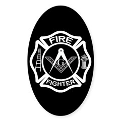 Firefighters Oval Decal