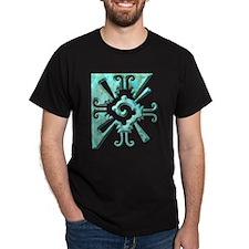 Mayan Design-turquoise T-Shirt