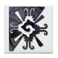 Mayan Design-metal Tile Coaster