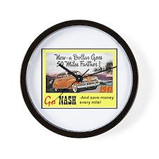 """1941 Nash Ad"" Wall Clock"