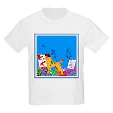 """The Poodle Artist"" Kids T-Shirt"
