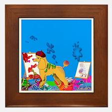"""""""The Poodle Artist"""" Framed Tile"""
