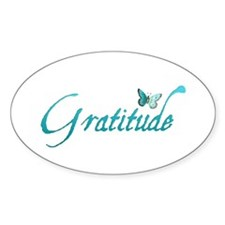 Gratitude Oval Decal