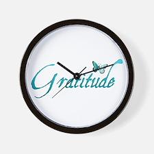 Gratitude Wall Clock