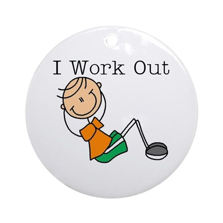 Male I Work Out Ornament (Round)