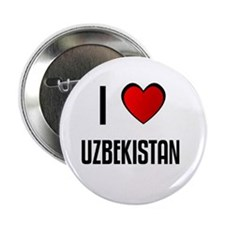 "I LOVE UZBEKISTAN 2.25"" Button (100 pack)"