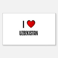 I LOVE UZBEKISTAN Rectangle Decal