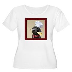 Black Labrador Chef Women's Plus Scoop T-shirt
