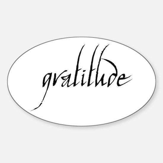 Gratitude Oval Bumper Stickers