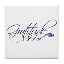 Gratitude Tile Coaster