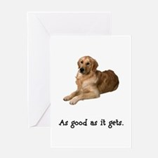 Good Golden Retriever Greeting Card