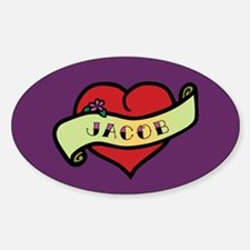 Jacob Heart Tattoo Oval Decal