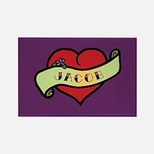 Jacob Heart Tattoo Rectangle Magnet