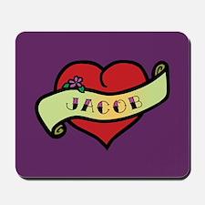 Jacob Heart Tattoo Mousepad