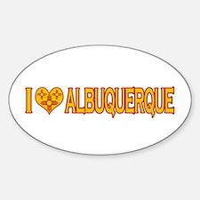 I Love Albuquerque Oval Decal