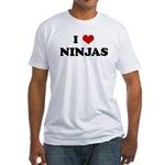 I Love NINJAS Fitted T-Shirt