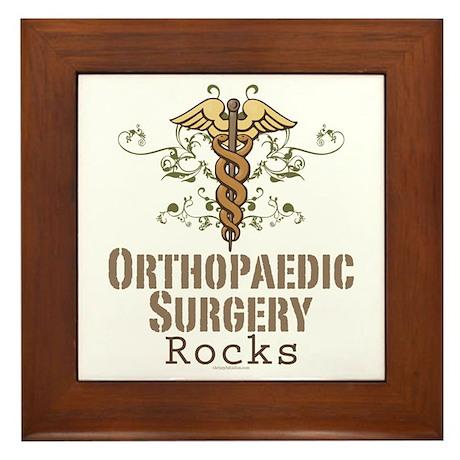Orthopaedic Surgery Rocks Framed Tile