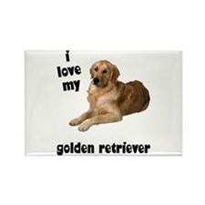 Golden Retriever Lover Rectangle Magnet