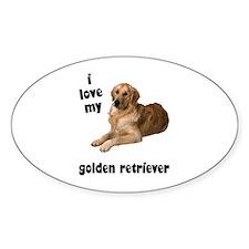 Golden Retriever Lover Oval Decal