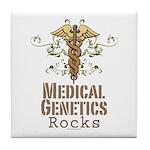 Medical Genetics Rocks Tile Coaster