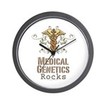 Medical Genetics Rocks Wall Clock