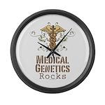 Medical Genetics Rocks Large Wall Clock